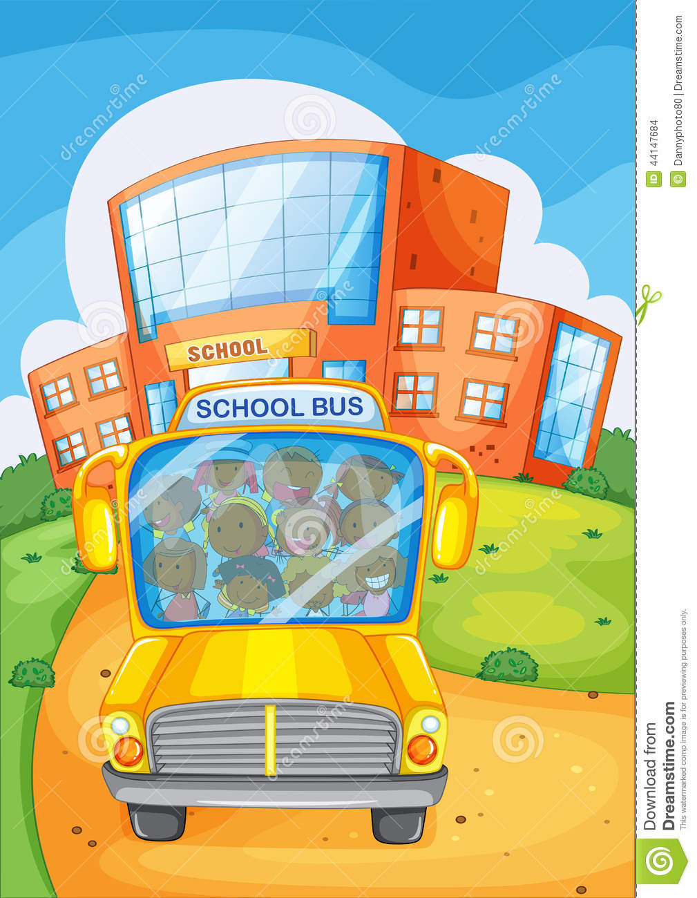 School Bus Stock Vector - Image: 44147684