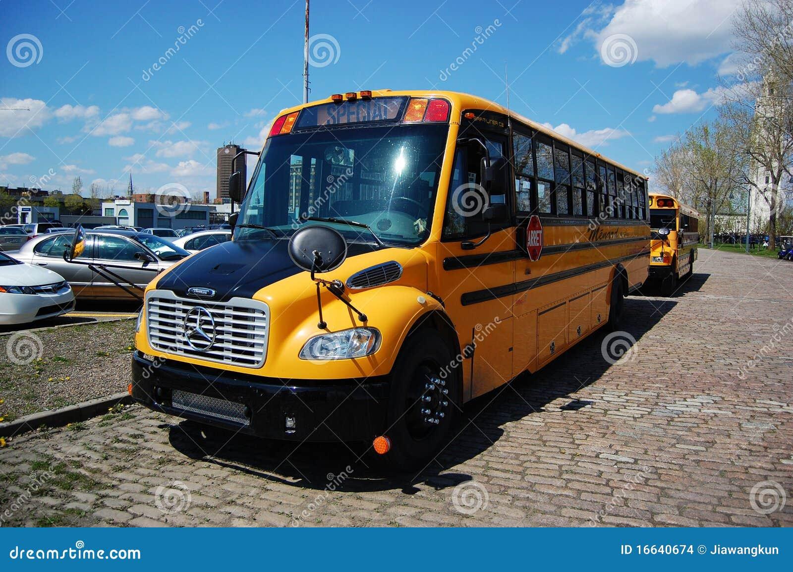 School bus in montreal editorial stock image image of for Mercedes benz school