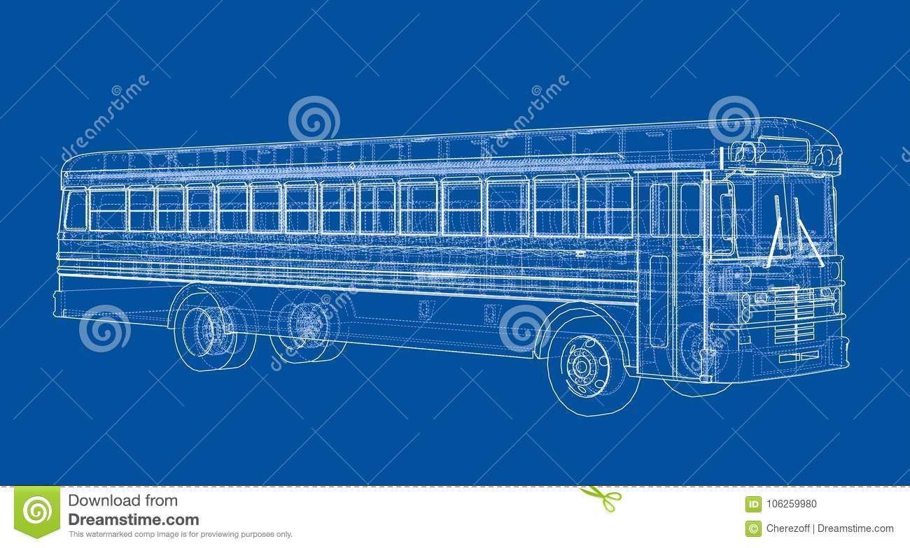 School bus outline vector stock vector  Illustration of