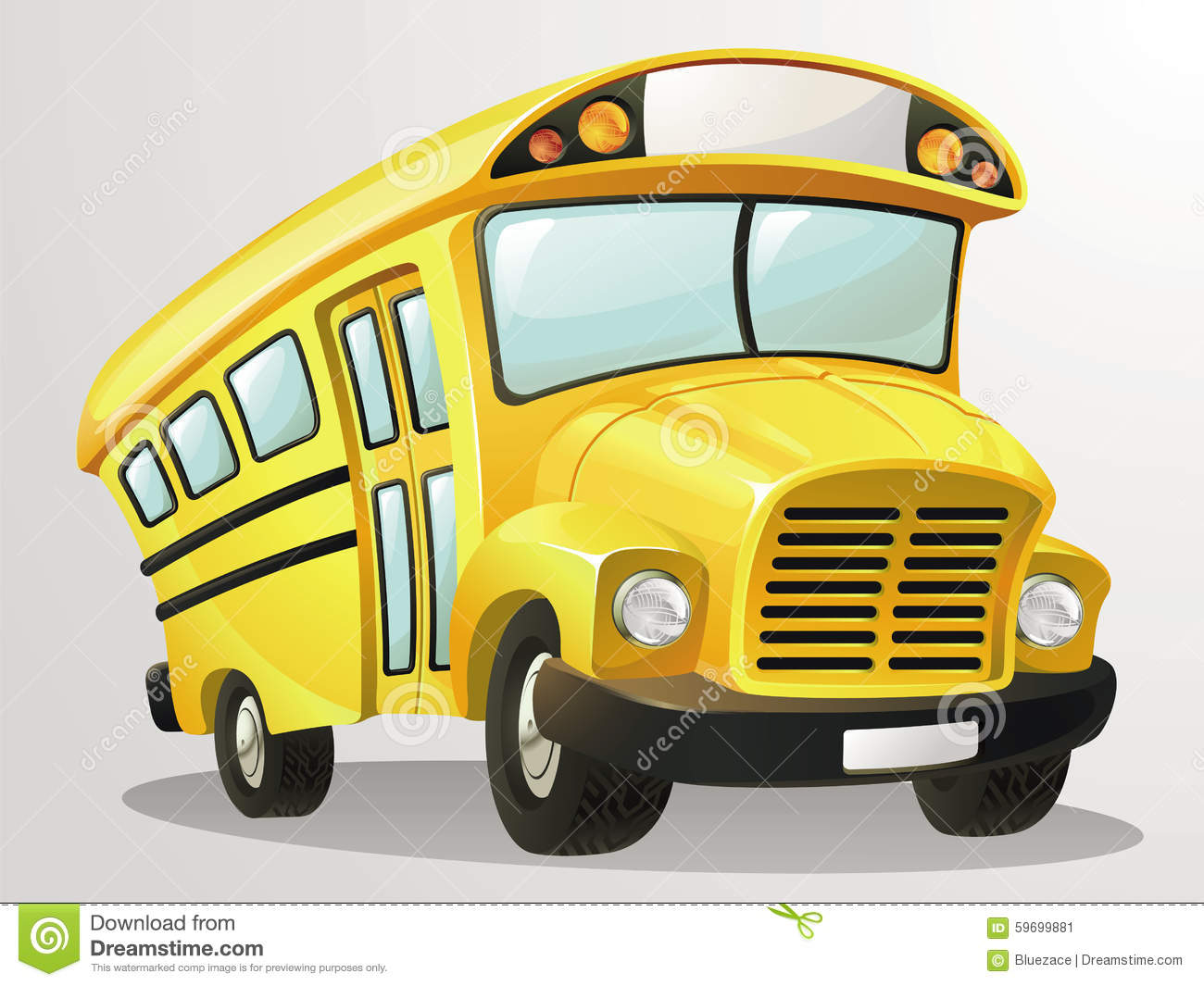 ... bus cartoon. This vector is very good for design that needs school bus