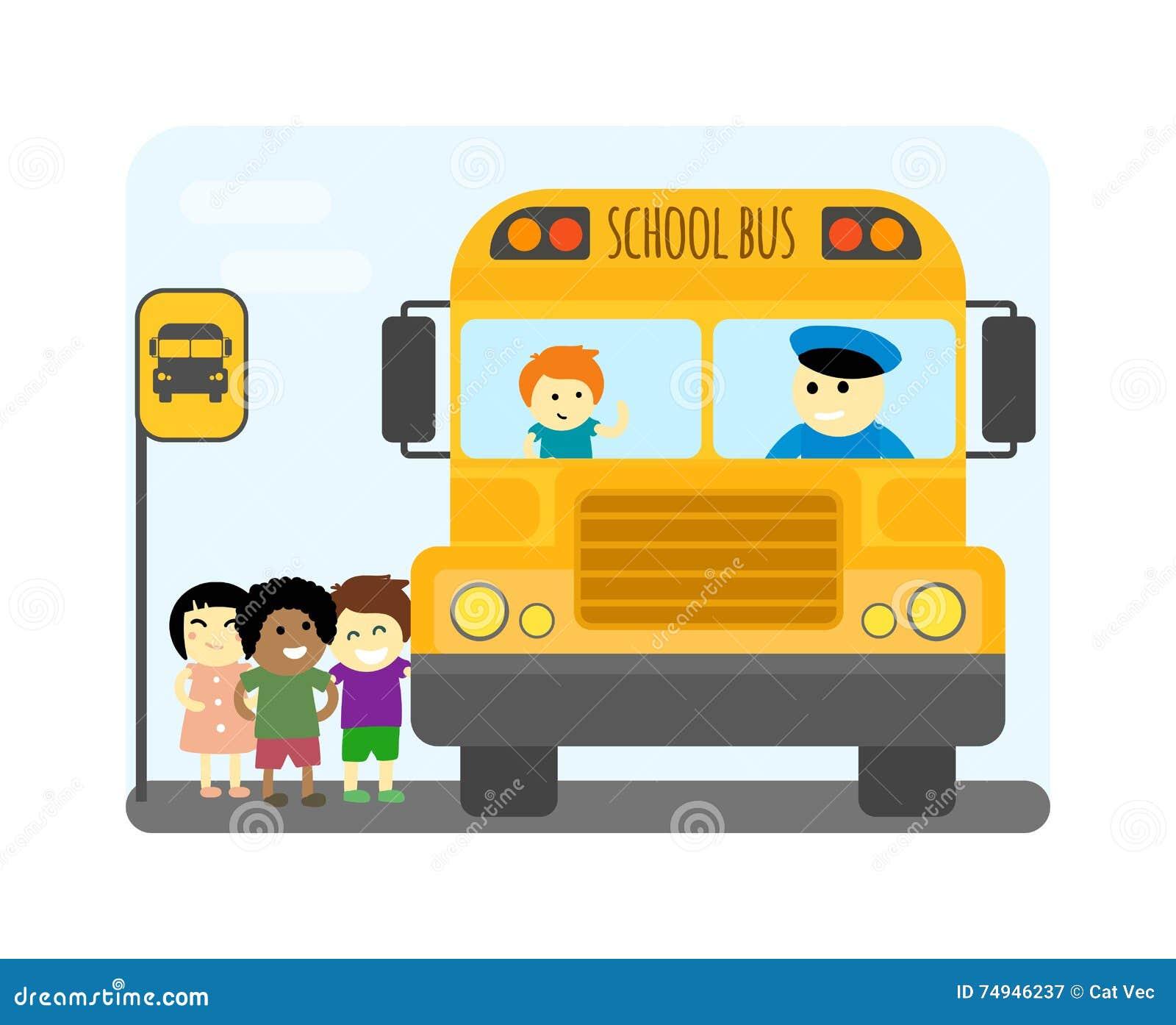 School Bus Safety Stock Photography | CartoonDealer.com ...
