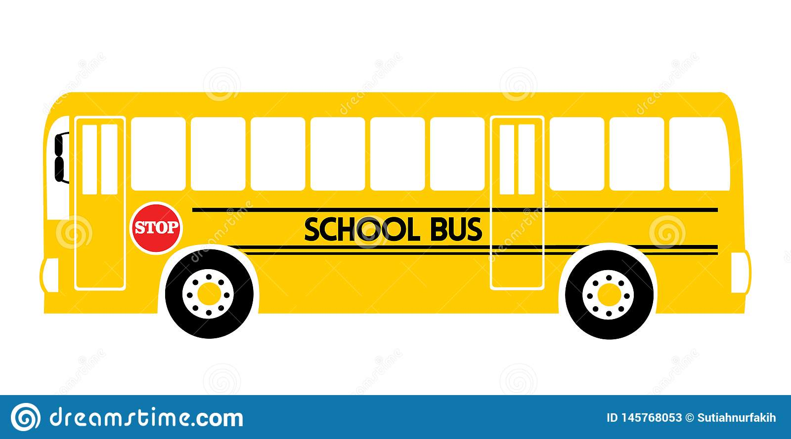 School bus yellow illustration vector