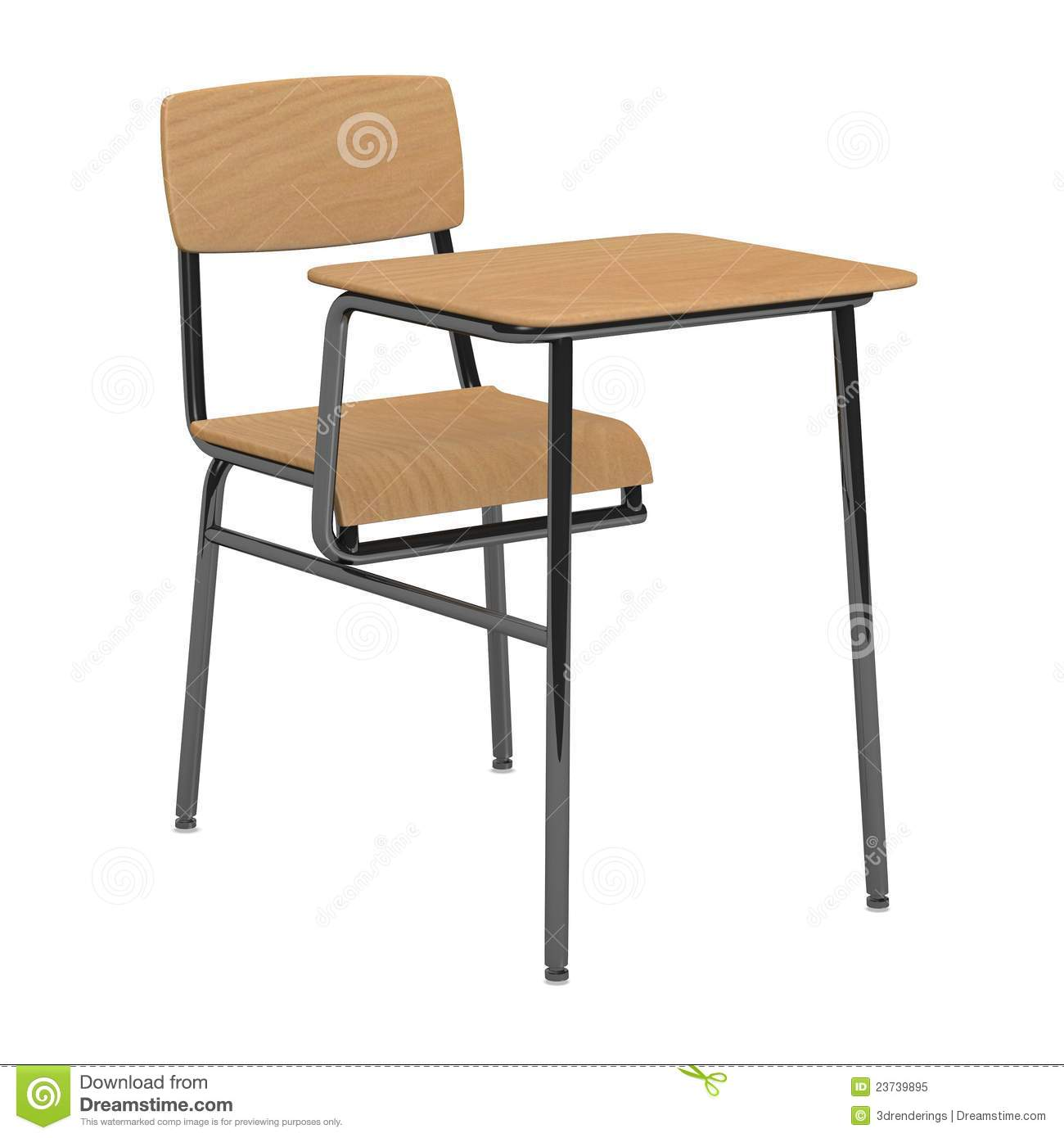 school chair and table for a single person stock illustration rh dreamstime com single study table and chair single study table and chair