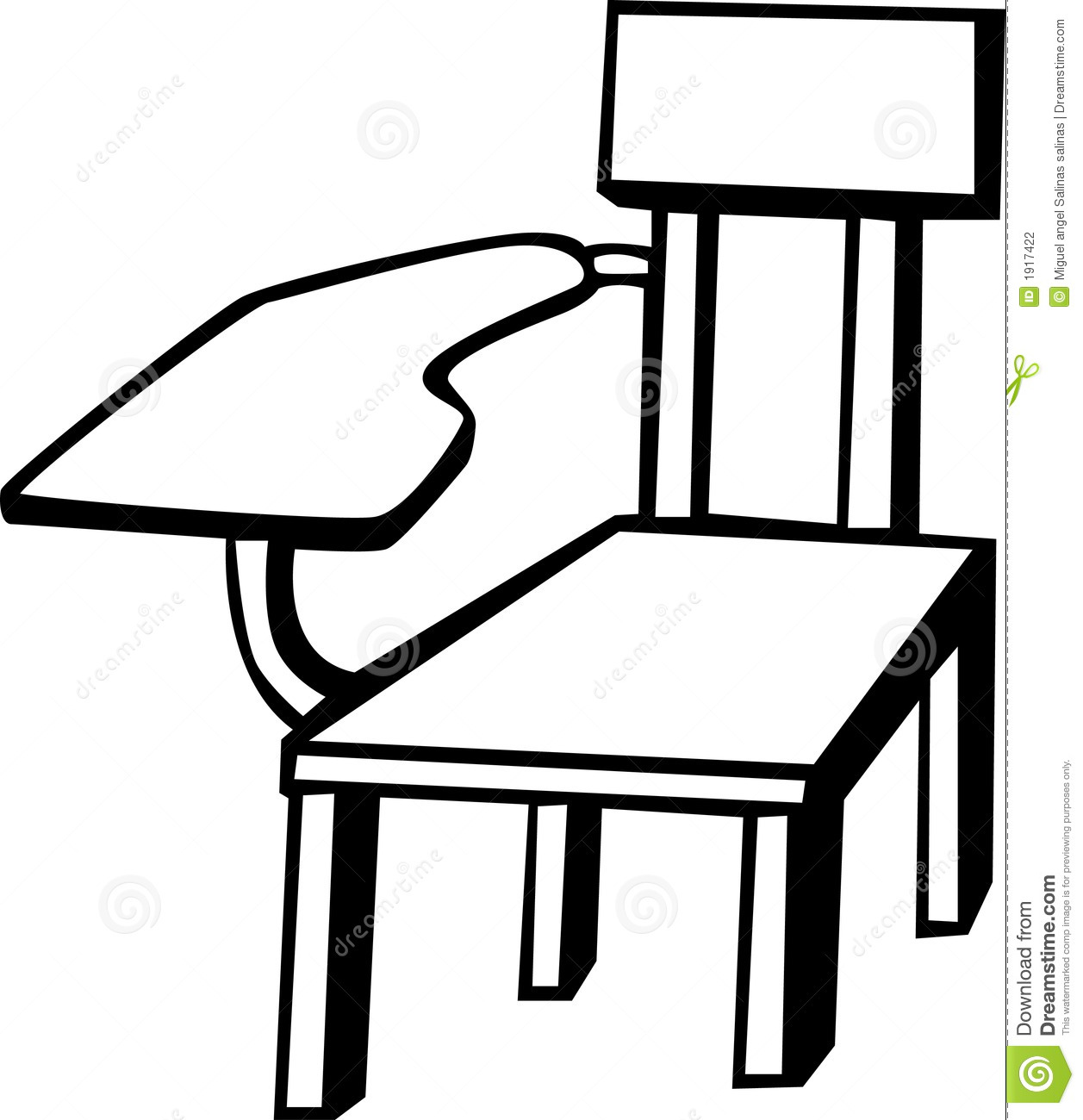School Chair Vector Illustration Stock Vector