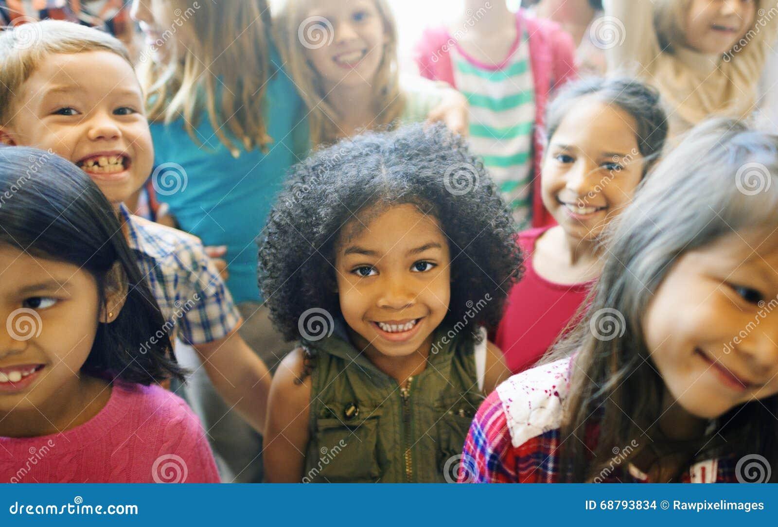 School Children Cheerful Variation Concept
