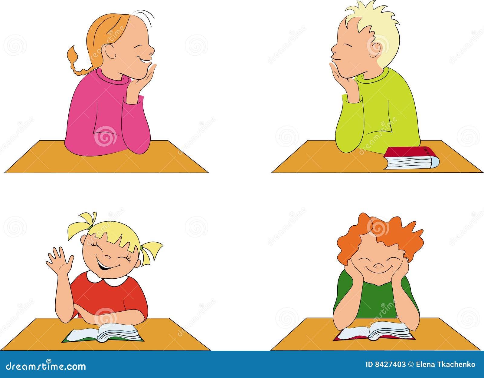 School children in class room