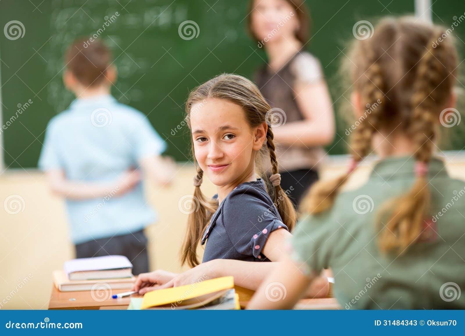 School children at lesson