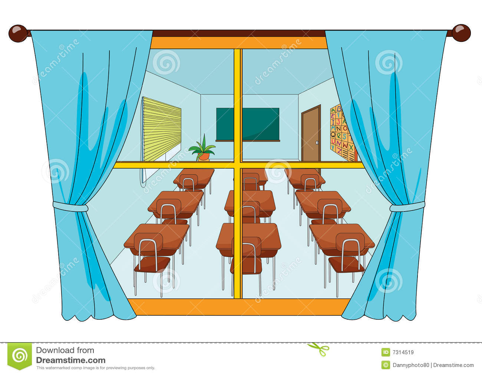 Classroom window - Classroom School View Window
