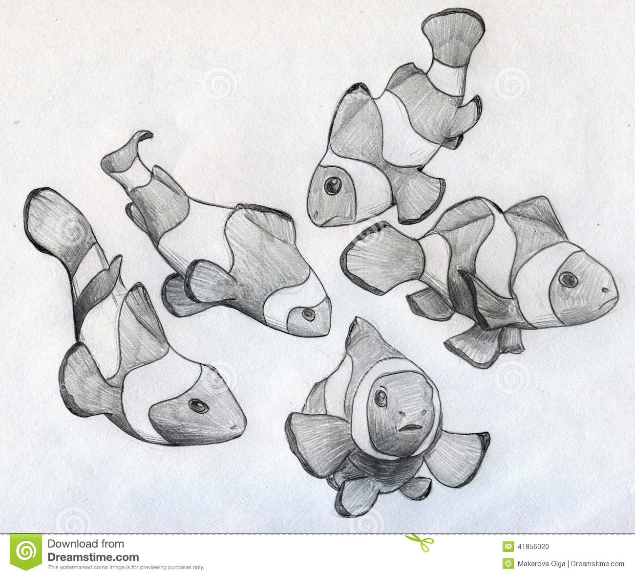 It is a graphic of Obsessed School Of Fish Drawing