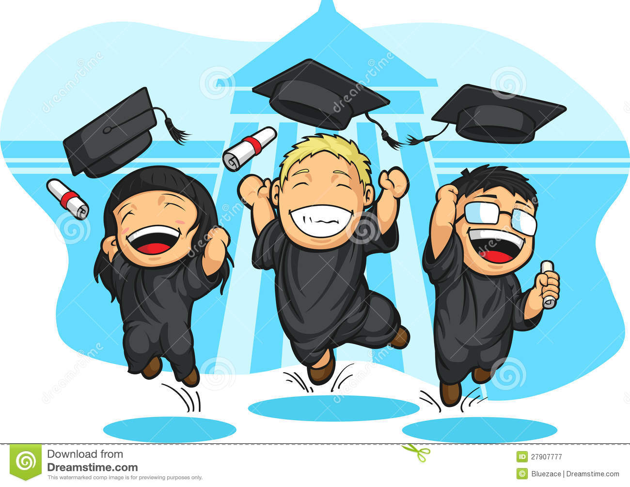School-College Graduation Cartoon Royalty Free Stock Photography ...