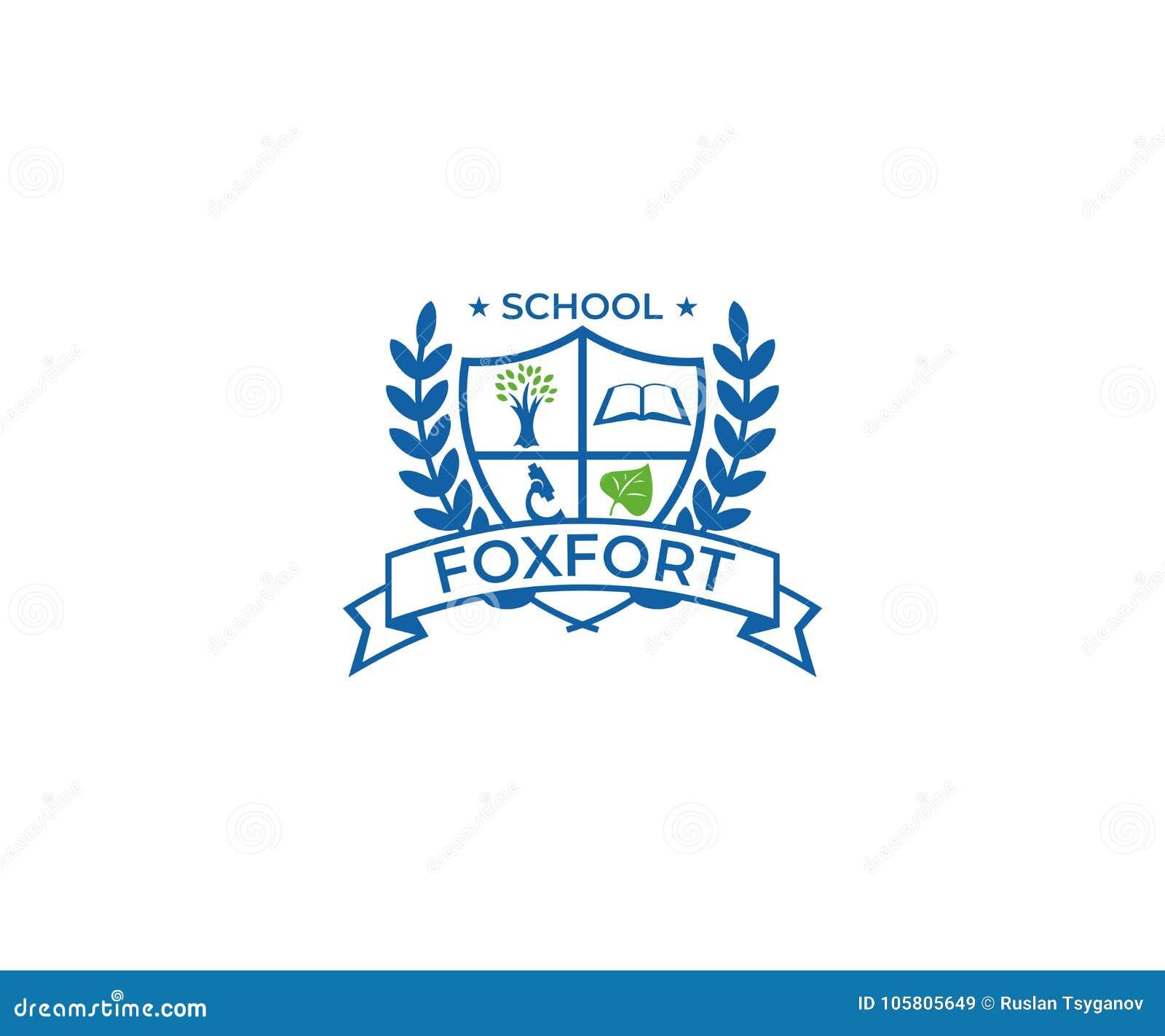 School Crest Logo Template Education Vector Design