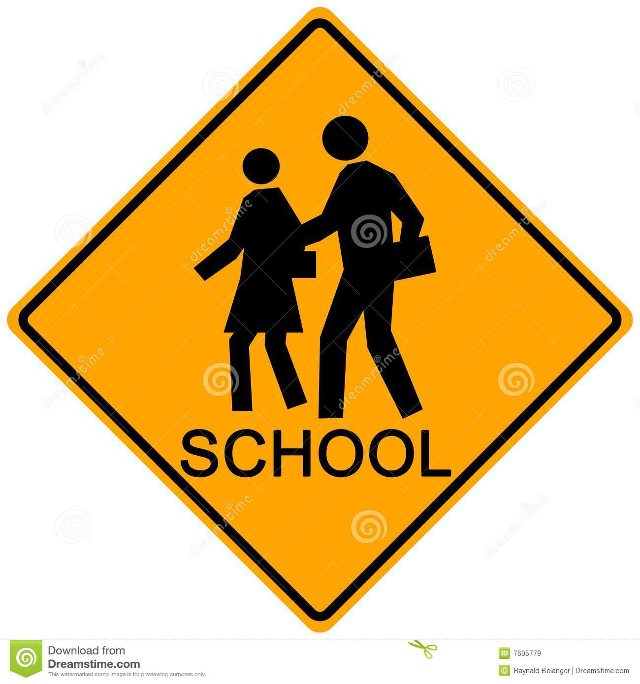 School Crossing Sign Royalty Free Stock Images - Image ...