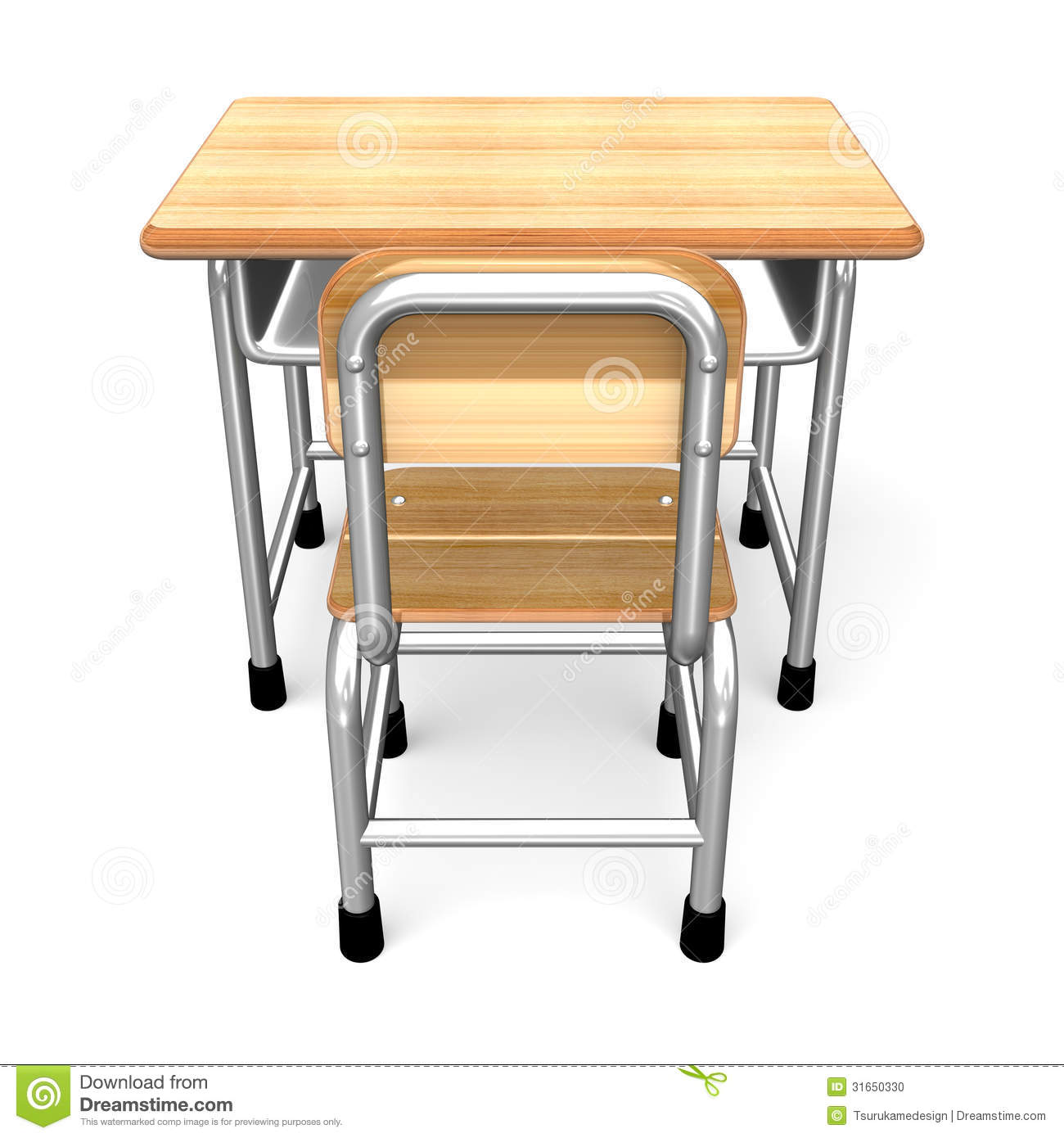 Perfect Royalty Free Stock Photo. Download A School Desk Back ...