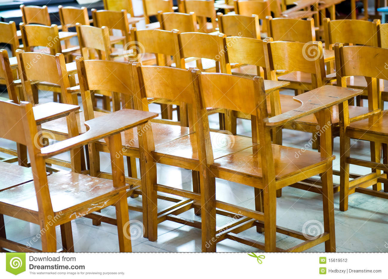 School Desk Chair Stock Photo Image Of Class Primary