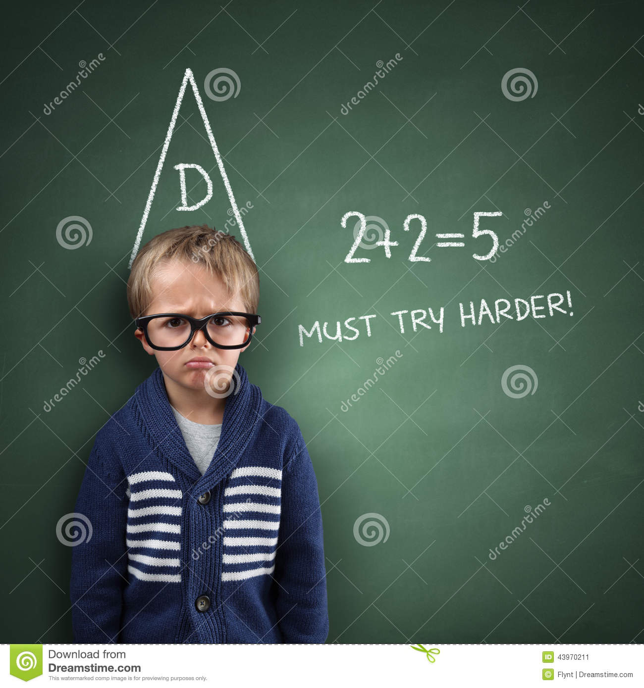 School Dunce Stock Image Image Of Back Children Fail
