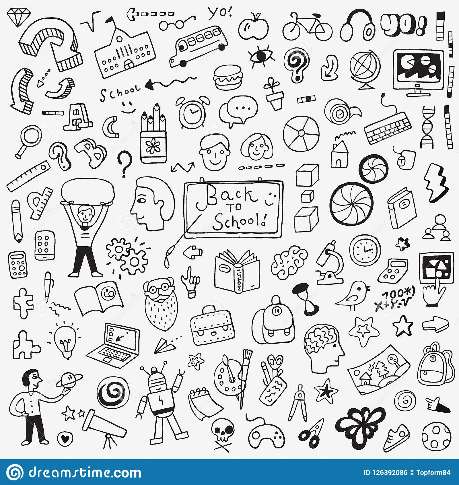 Education vector icons design elements