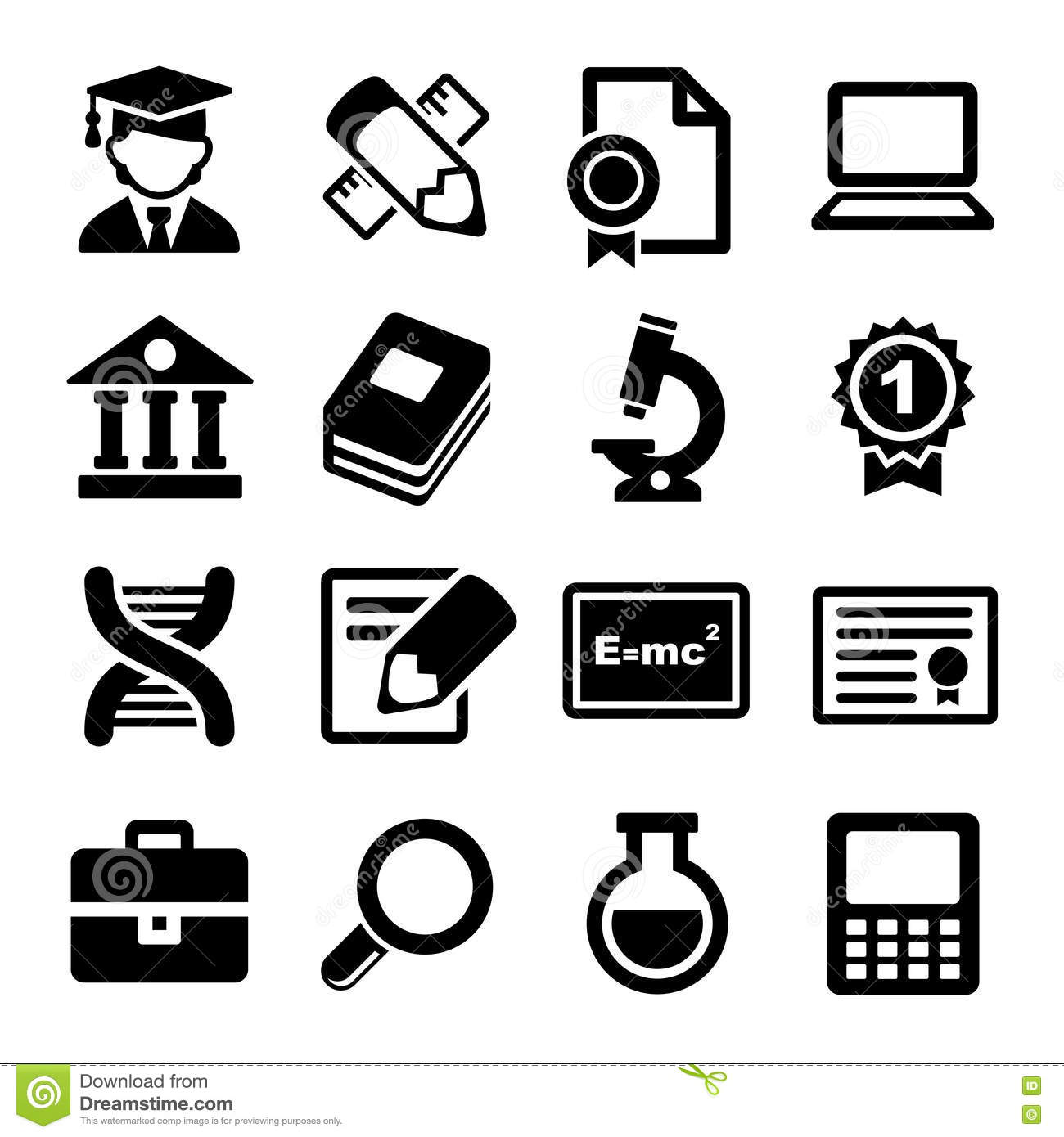 School And Education Icons Set Royalty Free Stock ...