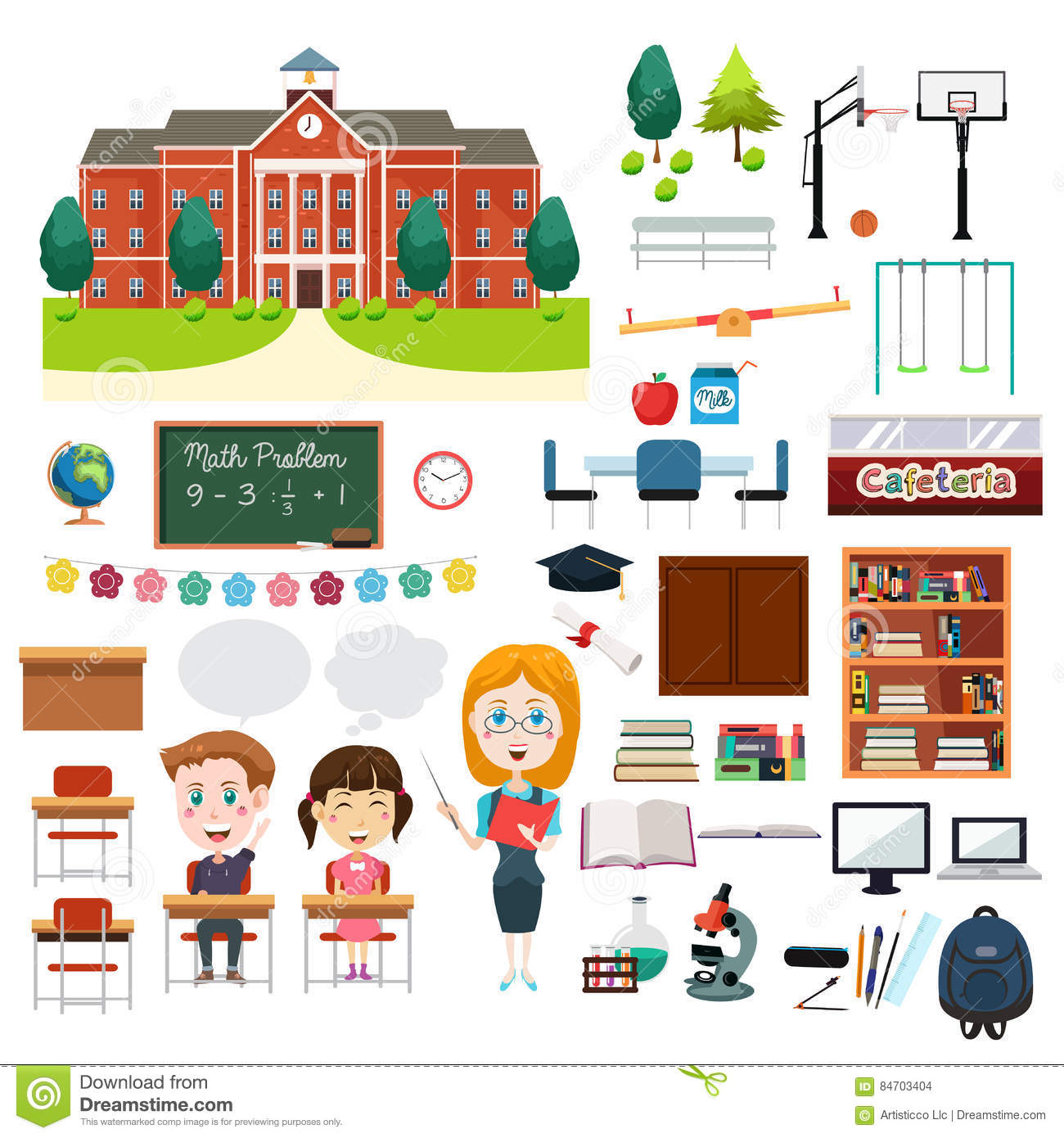 School Education Related Infographics Elements Stock Vector Illustration Of Cartoon Library 84703404