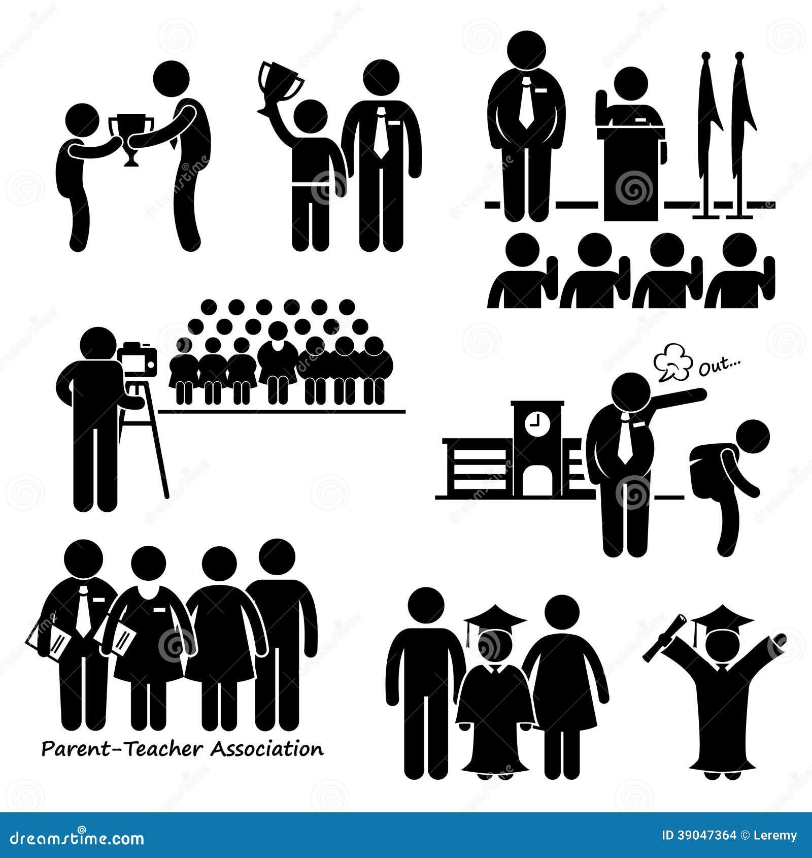 school events clipart stock vector illustration of people 39047364 rh dreamstime com Schoolhouse Clip Art Organization Clip Art