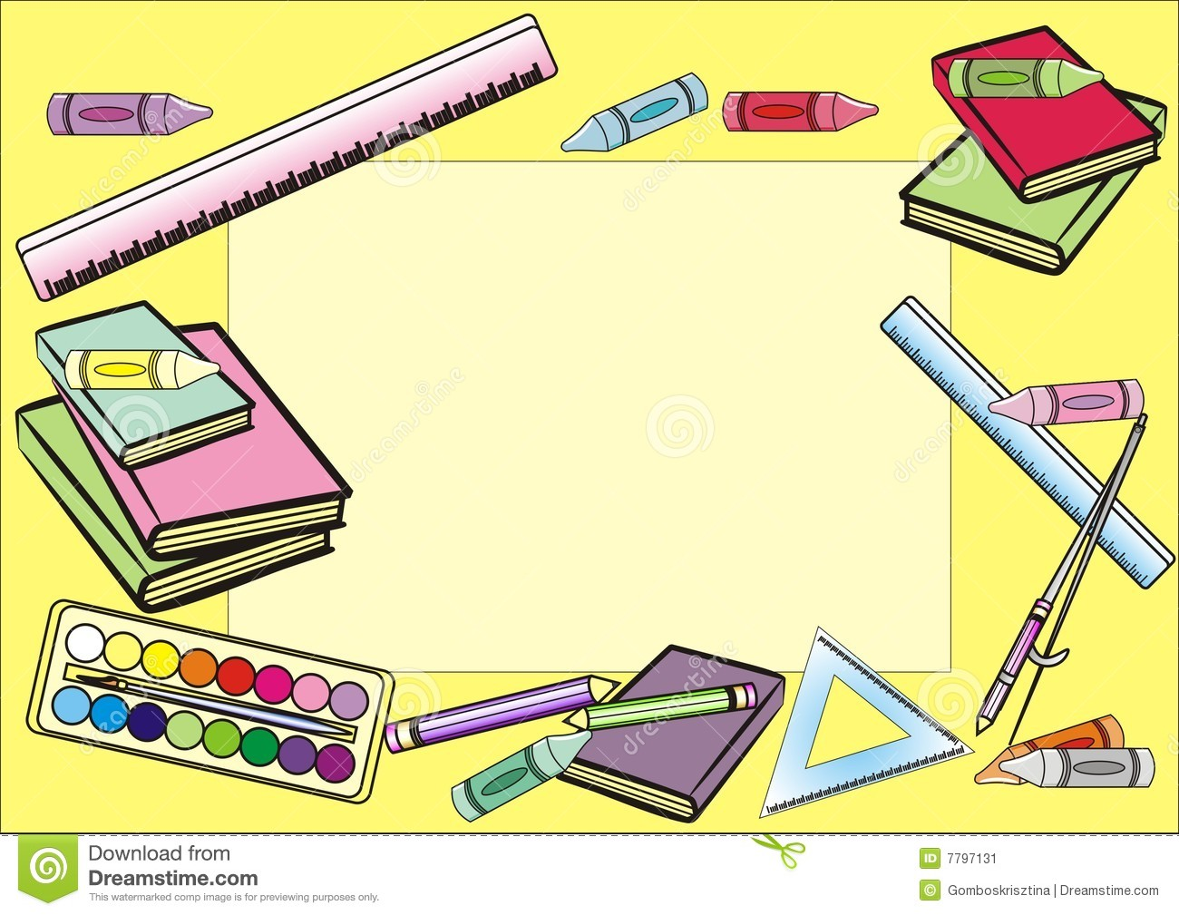 school frame stock image image 7797131 clipart of crayon boxes clipart of crayon letters