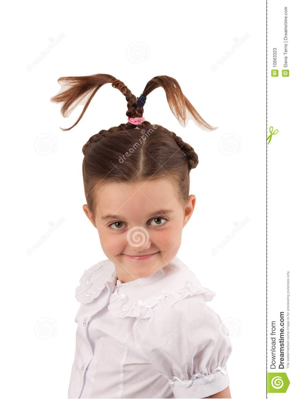 School Girl With Funny Hair Style 5 Stock Image Image Of Hair