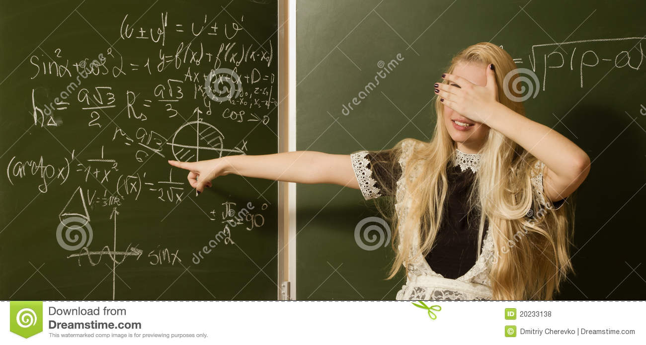 School Girl On Math Classes Stock Photo Image 20233138