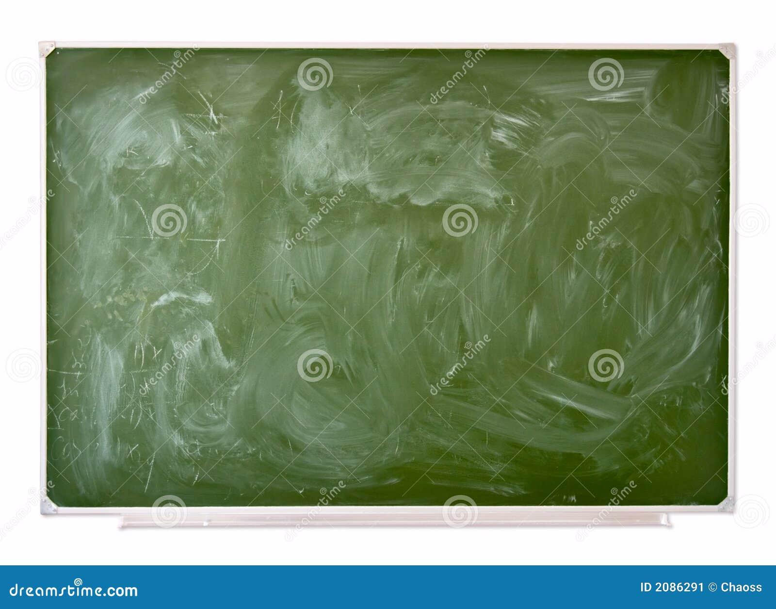 School green blackboard