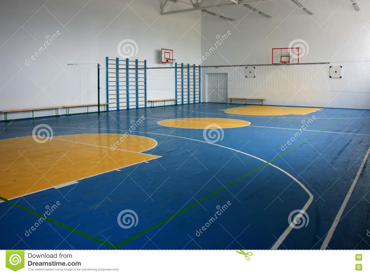 School gym indoor stock image image of university for How to build a basketball gym