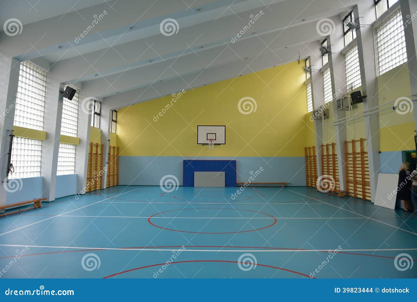 School Gym Indoor Stock Photo - Image: 39823444