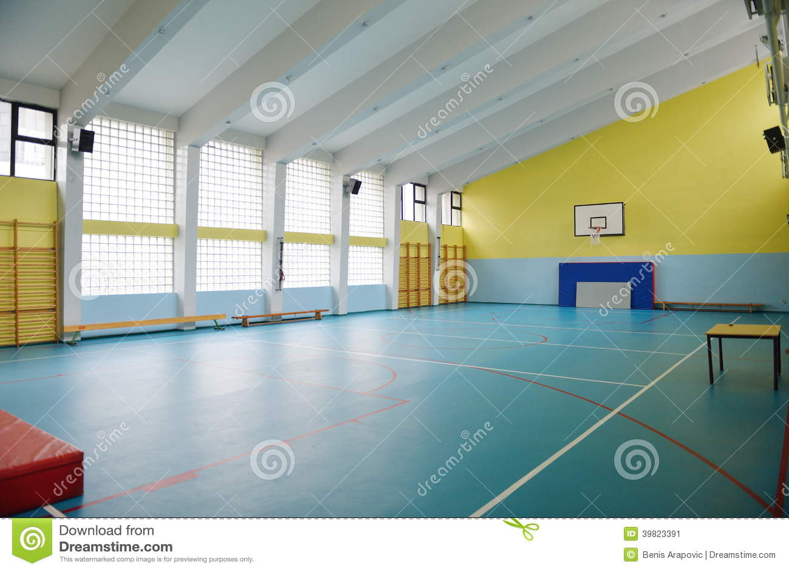 School Gym Indoor Stock Photo - Image: 39823391