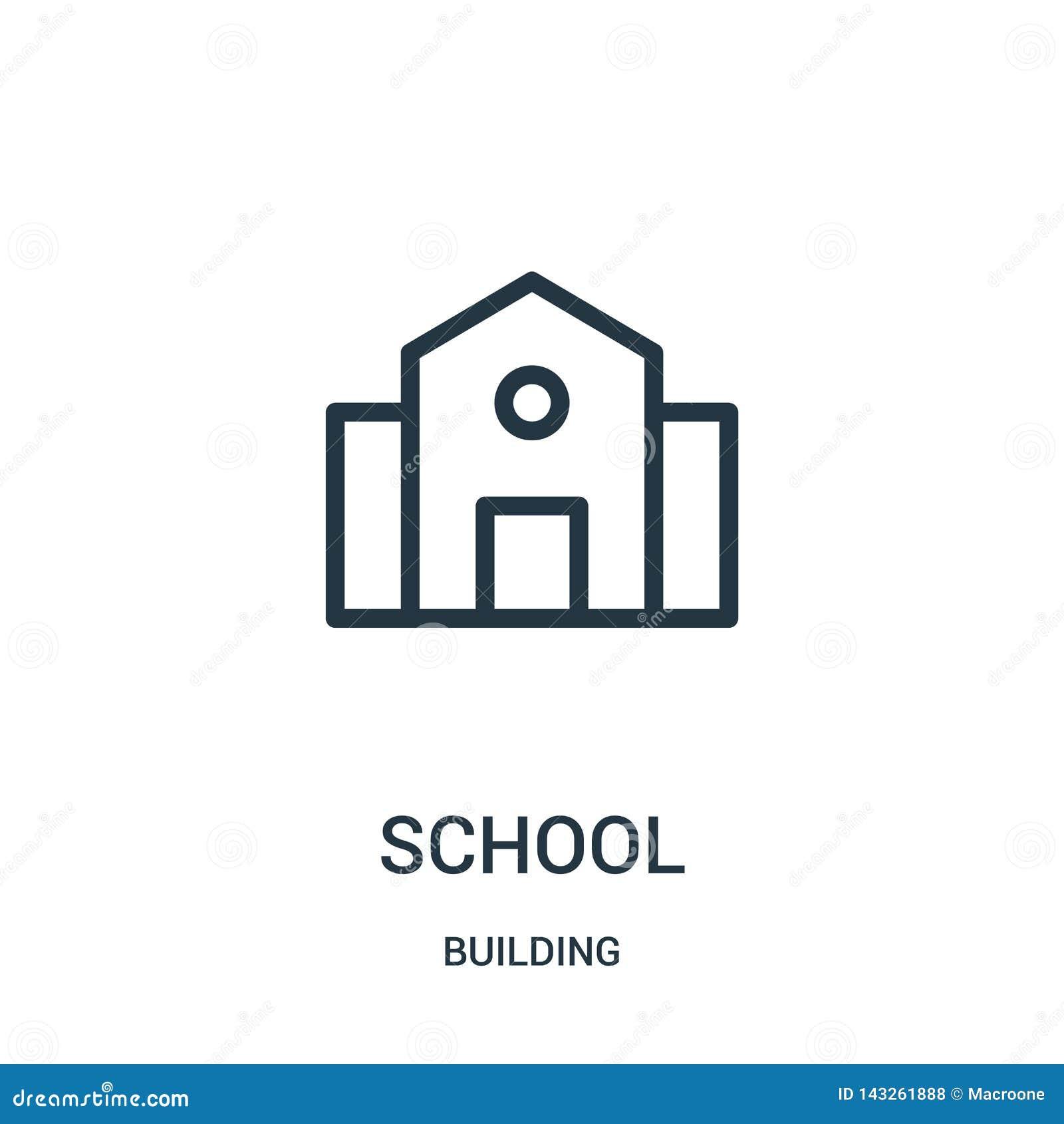 university or college building cartoon vector