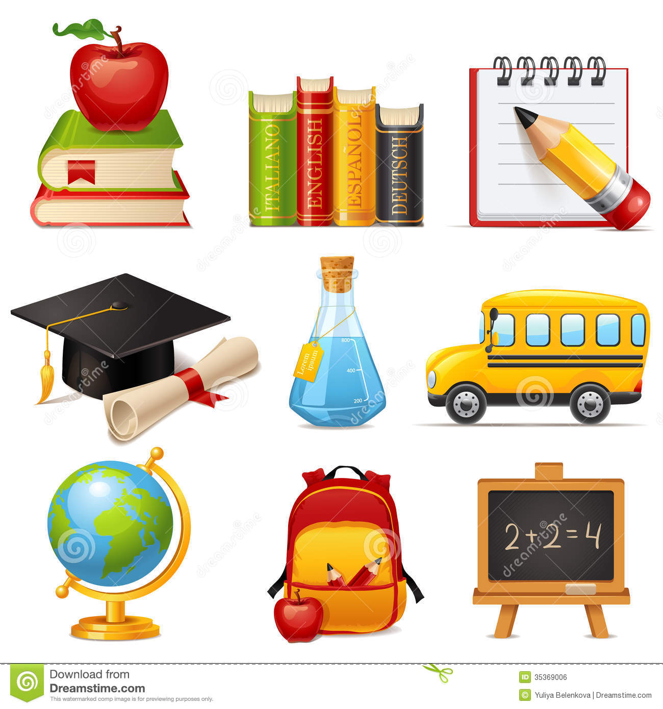School Icons Royalty Free Stock Image - Image: 35369006