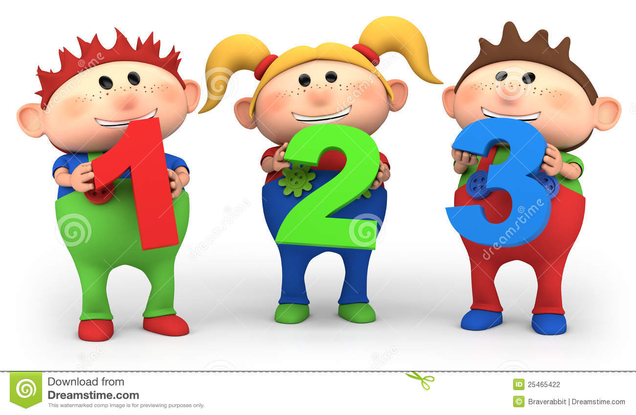School Kids With 123 Numbers Stock Photography Image