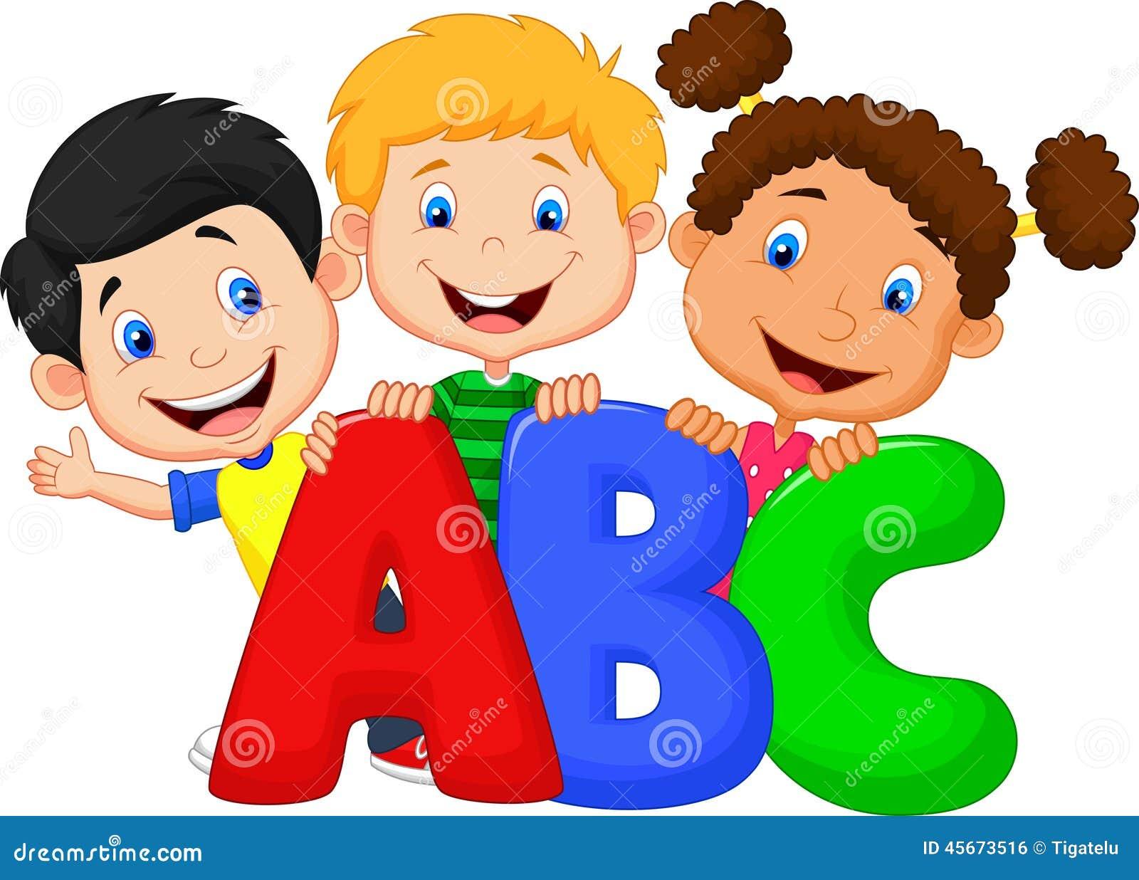 School kids with ABC