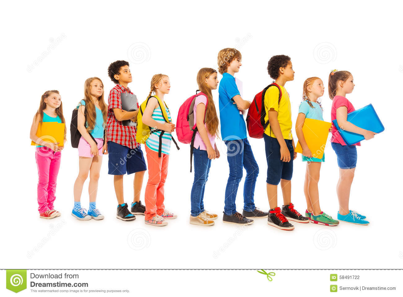 Picture Of Kids Walking In A Line At School