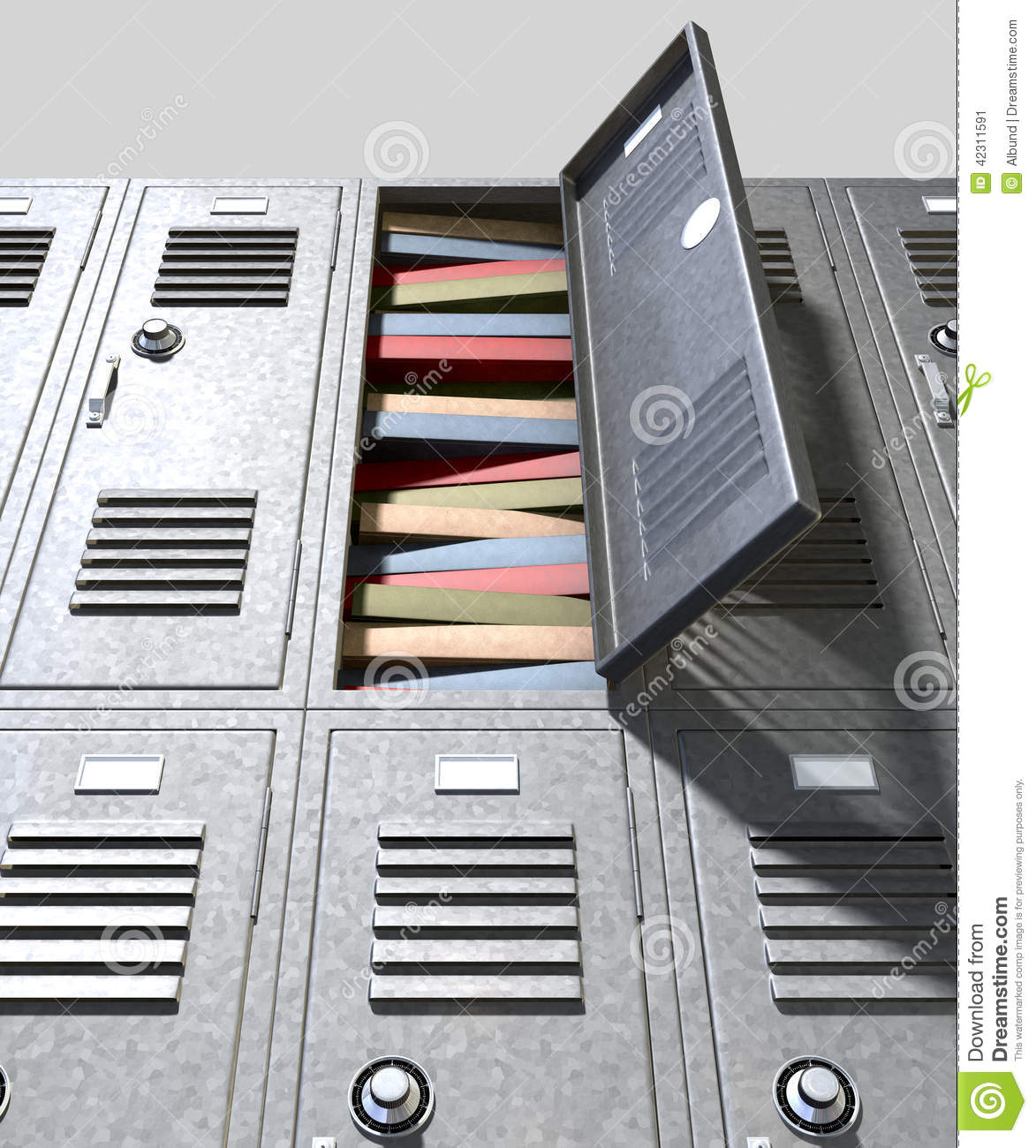 School Locker Crammed Books Stock Image Image Of Pile
