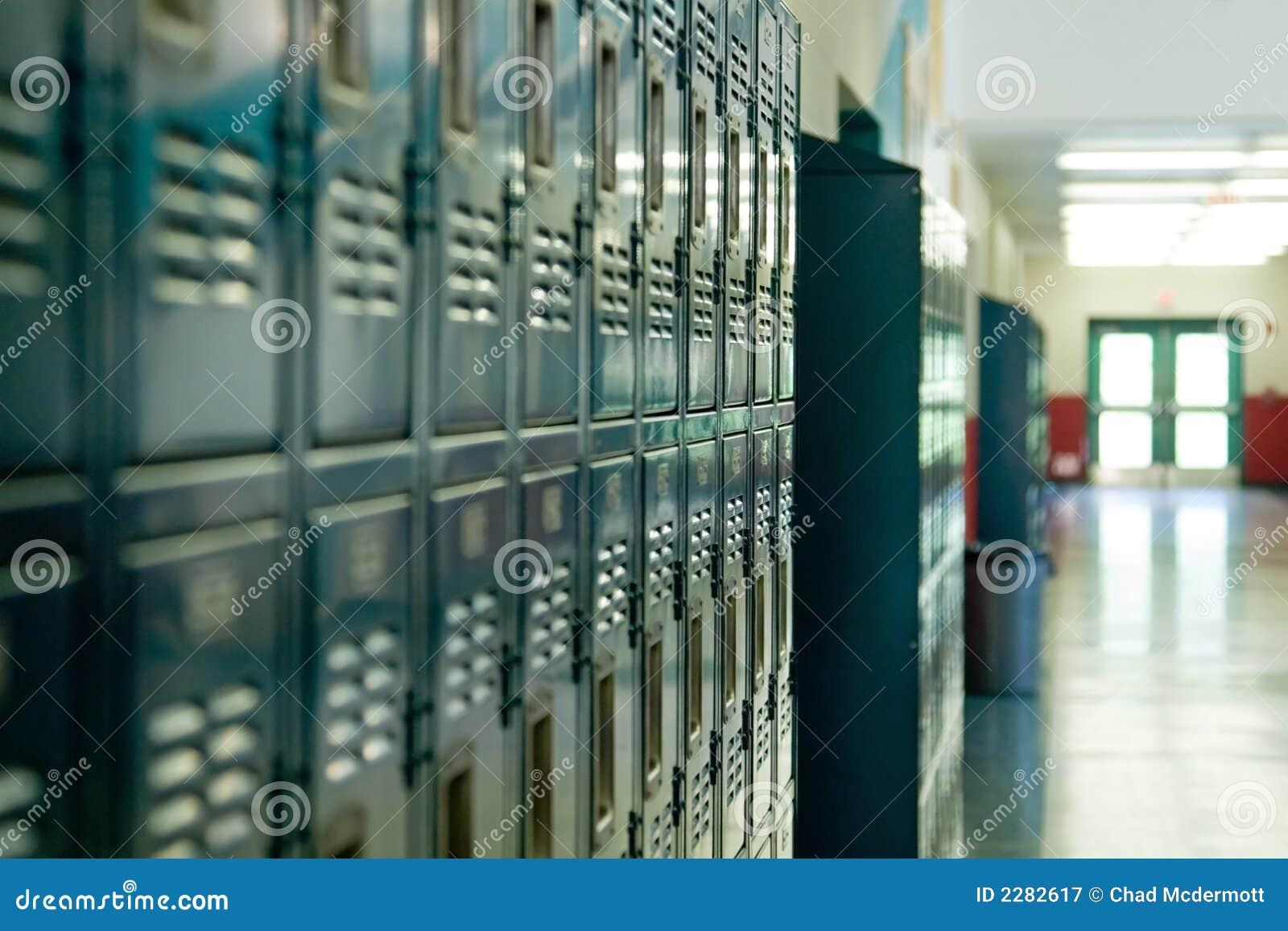 School Lockers stock image. Image of student, educate ...