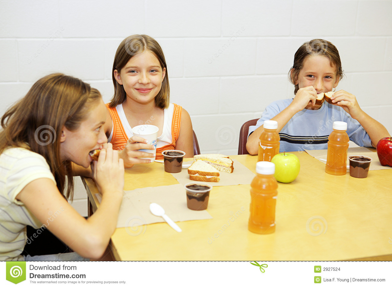 School Lunch in Cafeteria