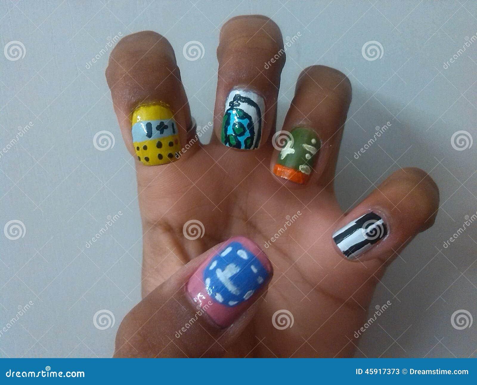 School nail art stock image. Image of music, school, math - 45917373