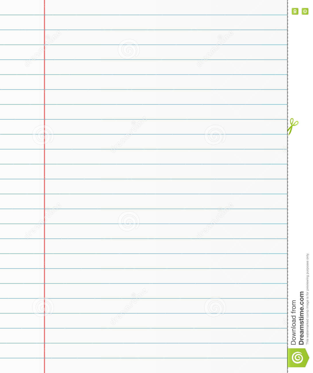 Notebook Paper Template image information – Notebook Paper Template