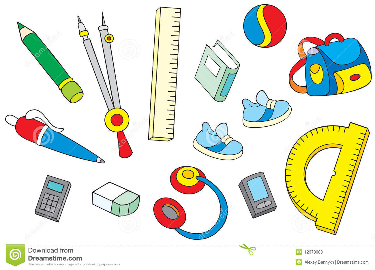 school objects stock photos image 12373083 school exercise books clipart school book clip art black and white