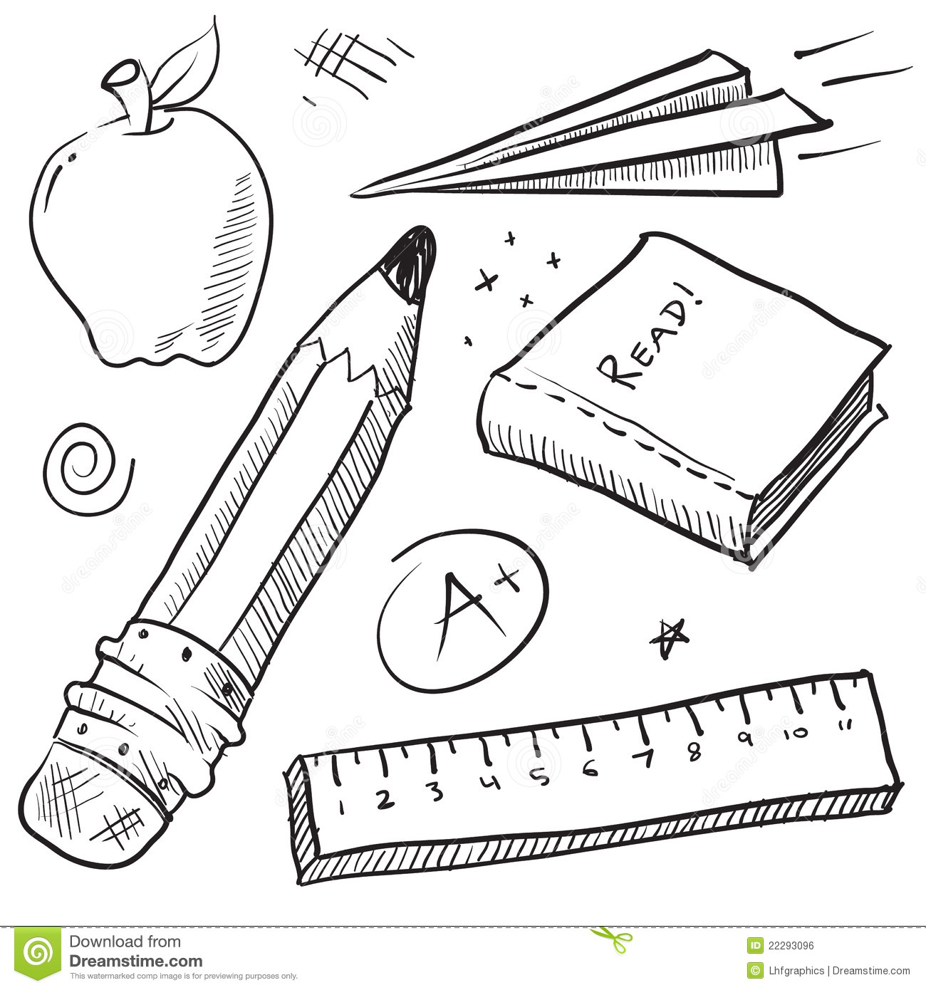 School Objects Illustration Royalty Free Stock Image ...