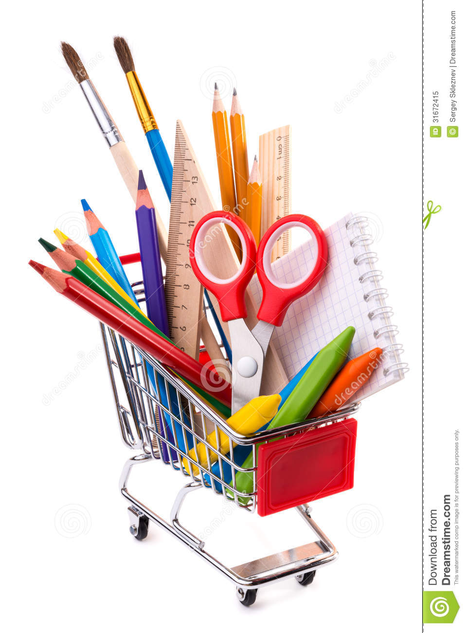 school or office supplies drawing tools in a shopping. Black Bedroom Furniture Sets. Home Design Ideas