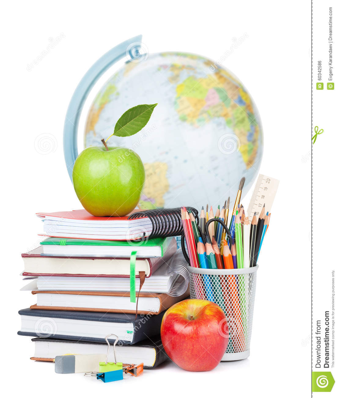 School And Office Supplies Stock Photo Image 60342586