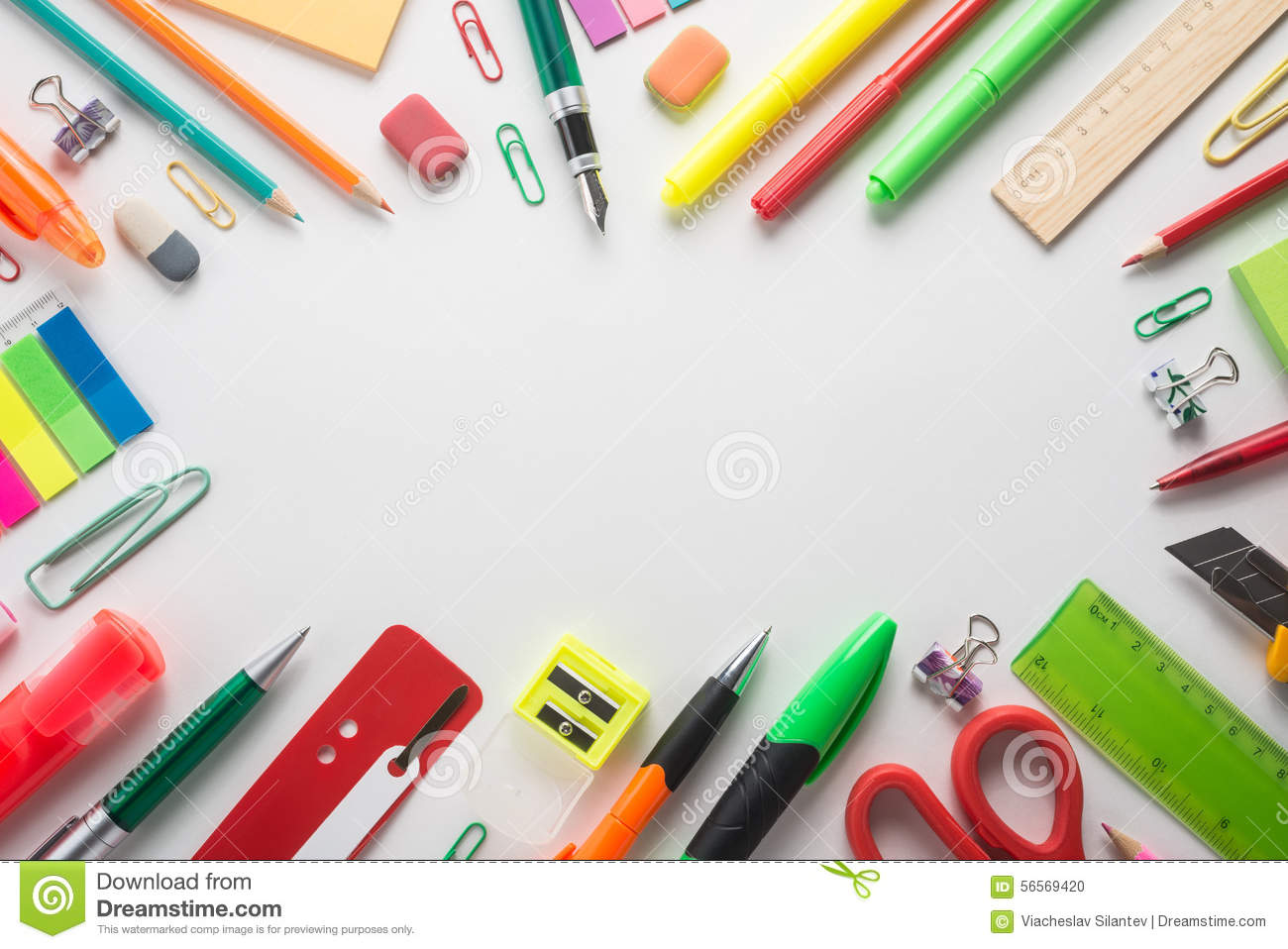 school office supplies stock photo  image of equipment