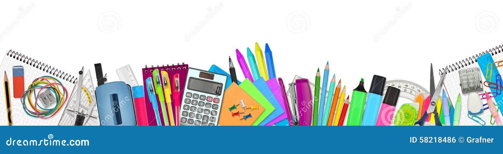 school   office supplies stock photo image 58218486 Office Equipment Microsoft Office Free Clip Art