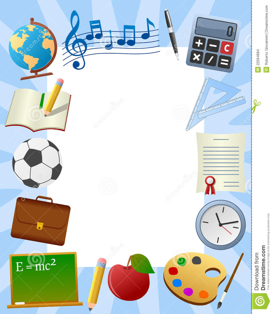 School Photo Frame [3] stock vector. Illustration of exercise - 22564684
