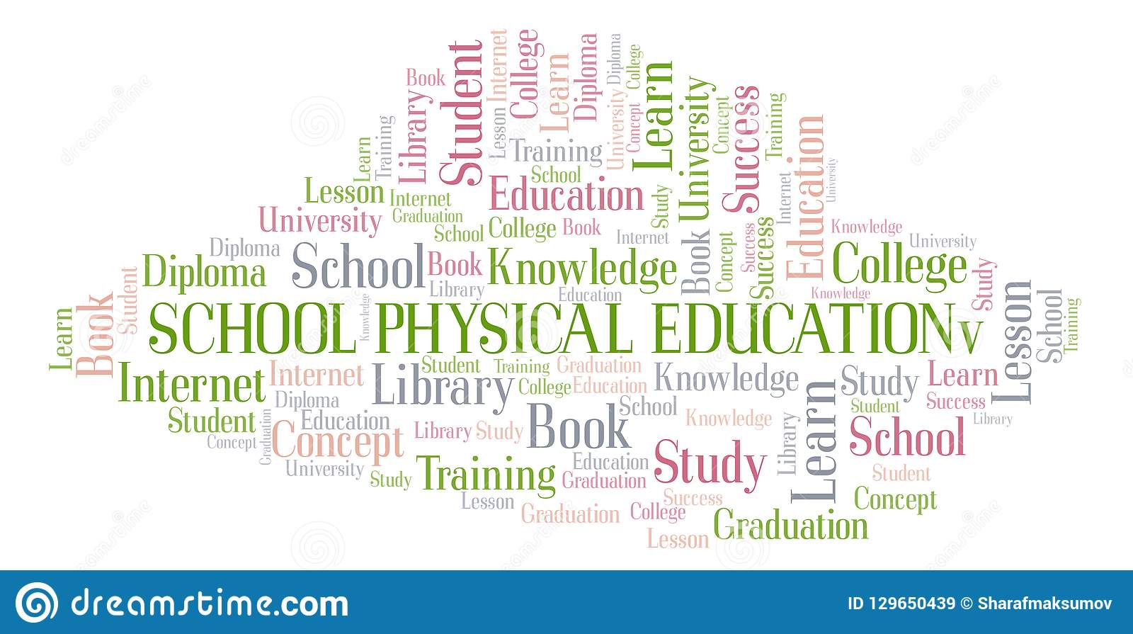School Physical Education Word Cloud. Stock Illustration ...
