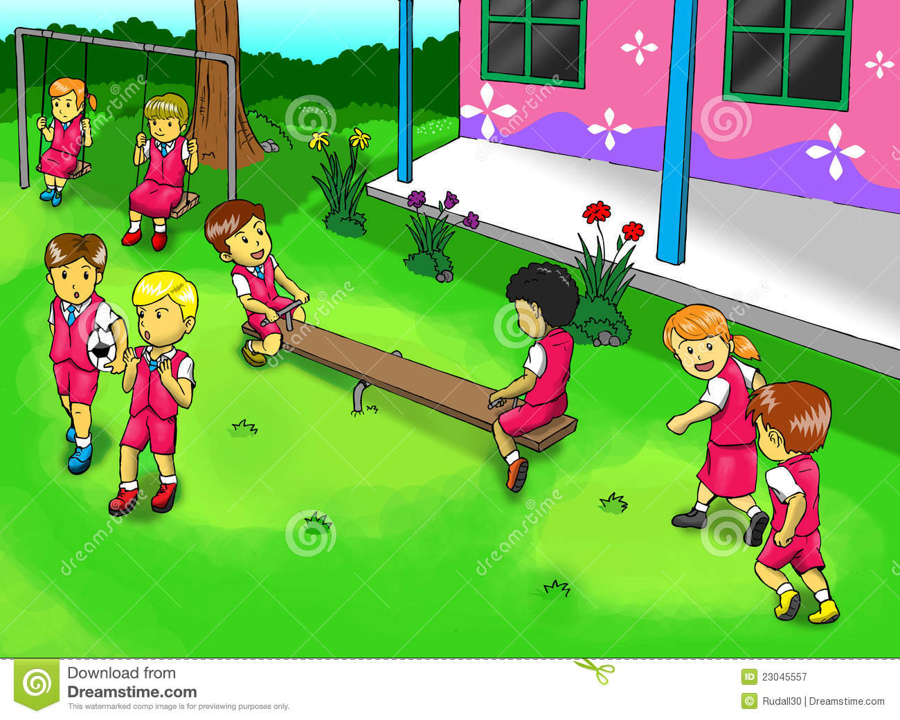 School Playground Royalty Free Stock Photography - Image: 23045557
