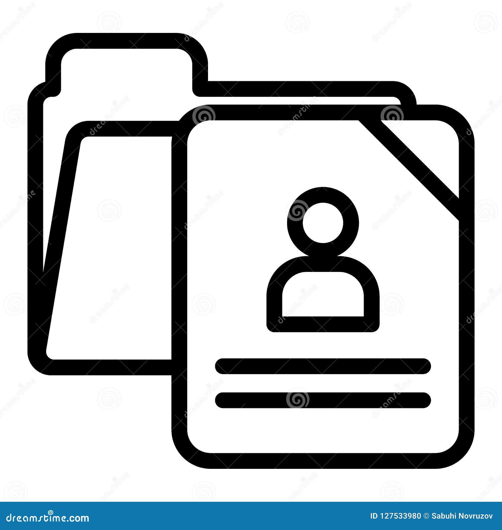 School Questionnaire Form Line Icon School Document Vector